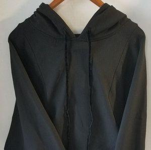 Zara M Hooded Sweatshirt w Faux Undershirt